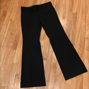 Banana Republic Sloan Fit Black Stretch Pant - 8